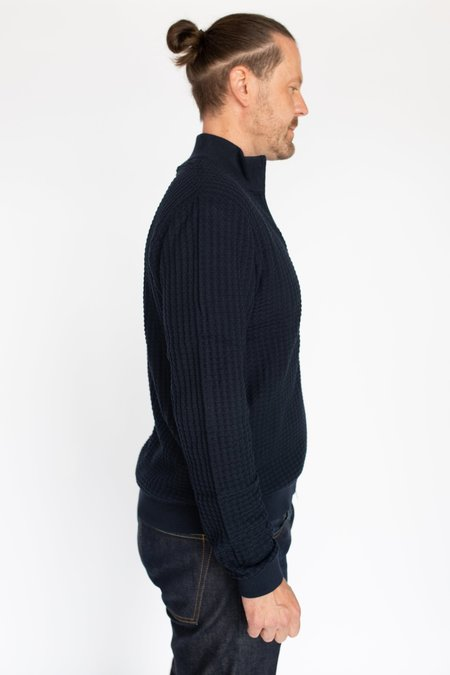 MATINIQUE Cardo Zip Sweater - Dark Navy