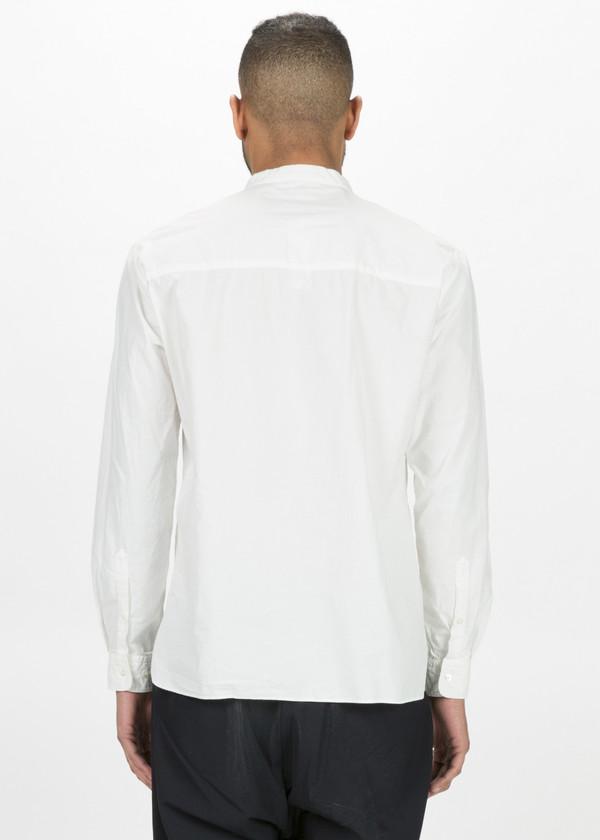 Sage de Cret Collarless Half Button Shirt