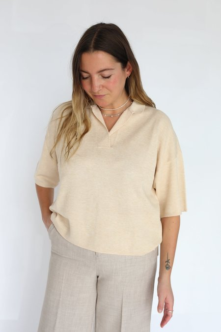 Inwear Timma Knitted Polo top - French Nougat