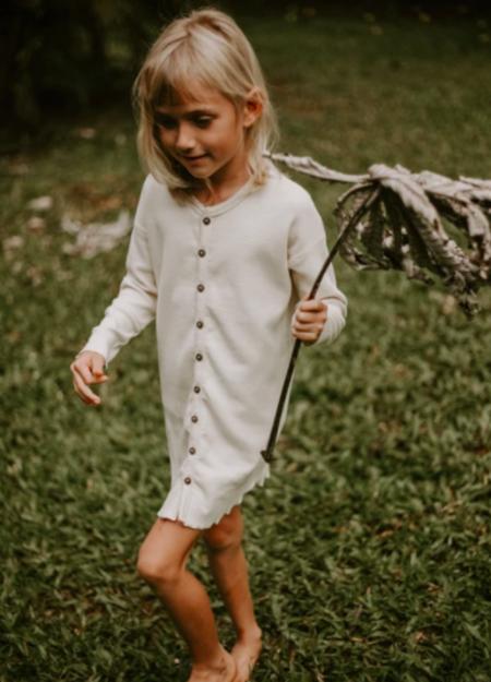 Kids The Simple Folk Shirt Dress - Undyed