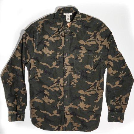 KATO The Ripper Shirt - Beige Camo Flannel