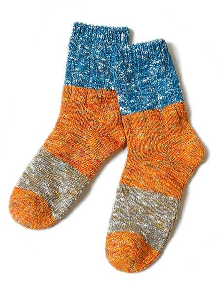 Unisex Kapital 56 Yarns GOGH Stretch Socks - Orange