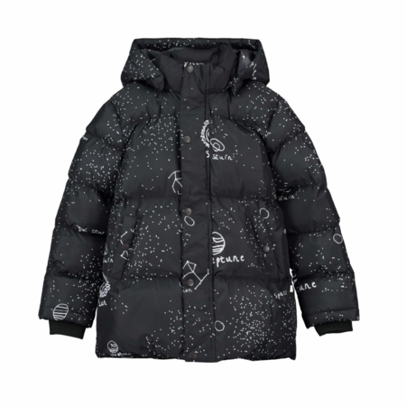 Kids Beau Loves Galaxy Recycled Puffa Coat - Black