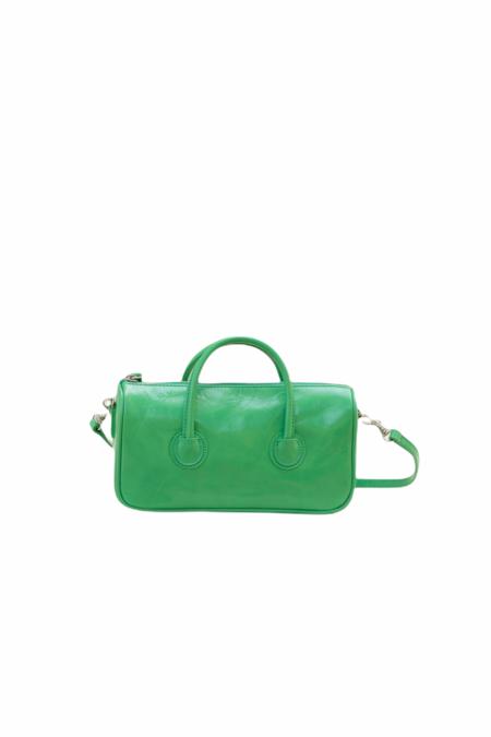 MARGESHERWOOD ZIPPER S BAG - MINT GREEN CRINKLE