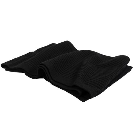 Unisex Jil Sander Ribbed Wool Scarf - Black