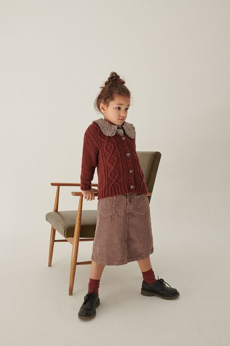 Kids My Little Cozmo Jeny Corduroy Skirt - Taupe