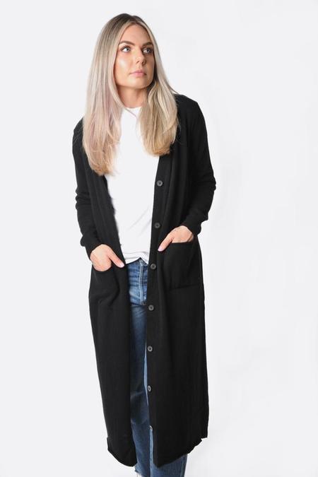 MJWatson cashmere long cardigan - Black