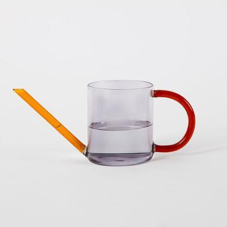 Block Design Duo Tone Watering Can - Orange/Grey