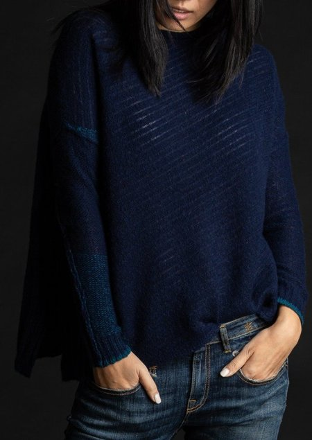 Paychi Guh Dreamy Reversible Pullover - Navy Teal