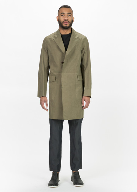 Sage de Cret Raw Edge 3/4 Length Coat