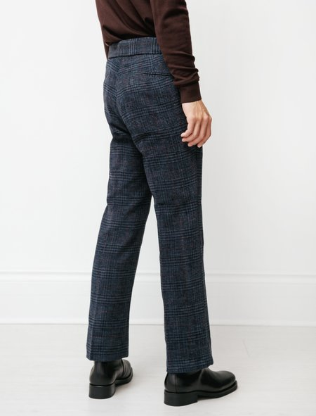 Needles Side Tab Trousers - Plaid Mall Twill Navy