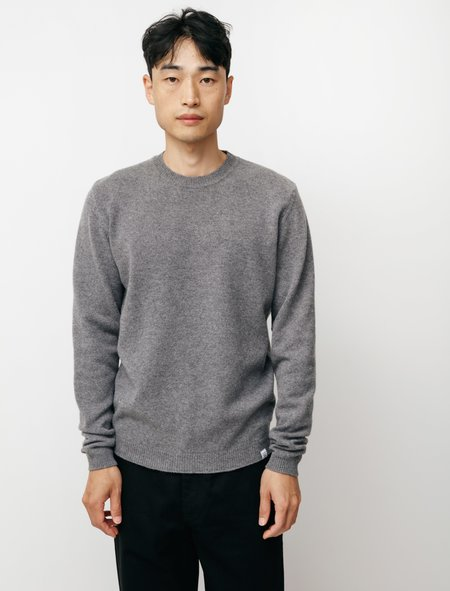 Norse Projects Sigfred Lambswool Sweater - Grey Melange