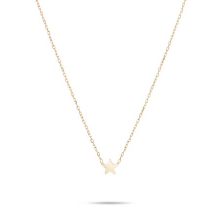Adina Reyter Super Tiny Puffy Star Necklace - Gold