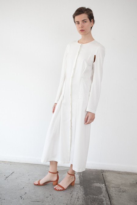 ECKHAUS LATTA Duster Dress in Off White