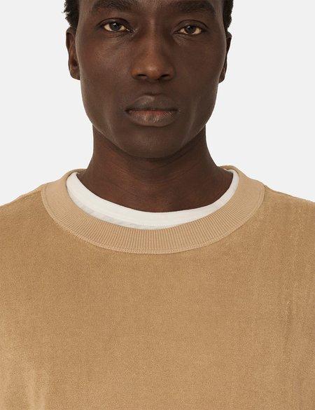 YMC Daisy Age Towelling Sweatshirt - Camel Brown