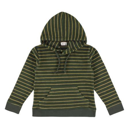 Kids morley krane soft stripe sweatshirt - cilantro