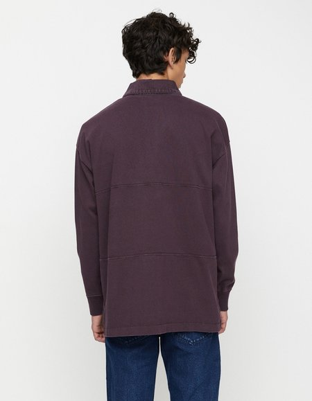 Schnayderman's Rugby Garment Dyed Shirt - Deep Purple