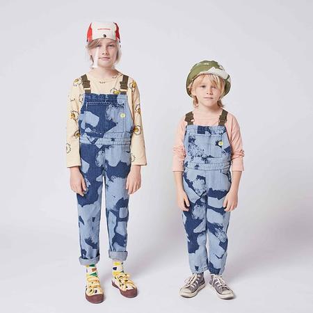 Kids Bobo Choses Child Denim Overalls - Painting Print Blue