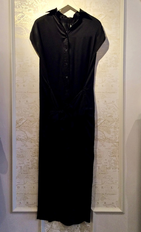 R13 Silk Satin X-Long Wrap Dress