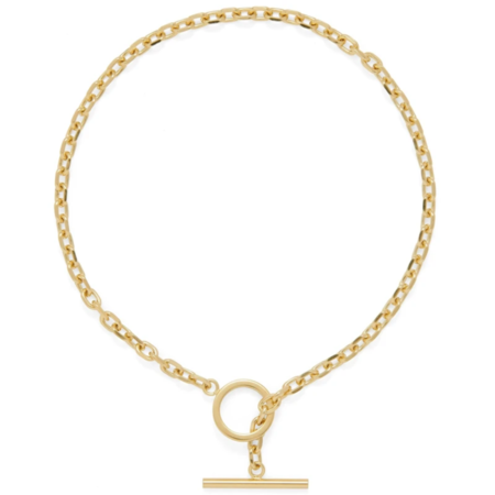 Lady Grey Toggle Link Necklace - Gold