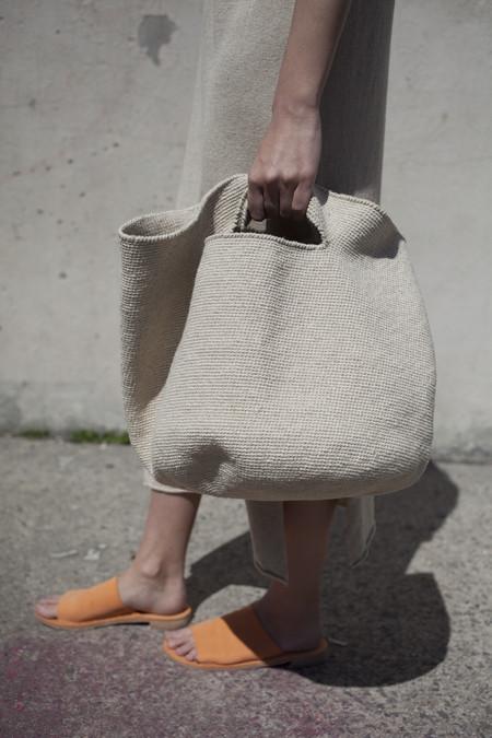 Lauren Manoogian Crochet Bowl Bag in Crudo