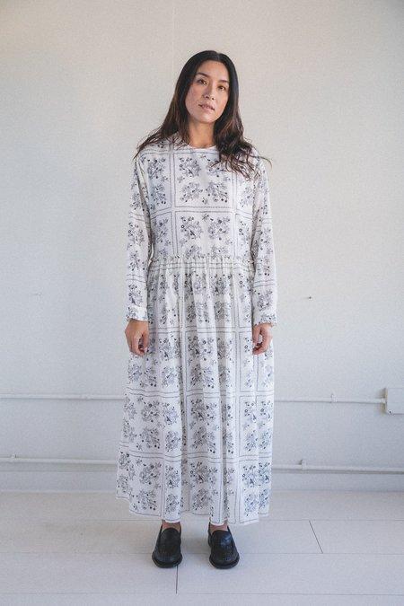 Sara Lanzi Long Apron Dress - Wild Berry Print