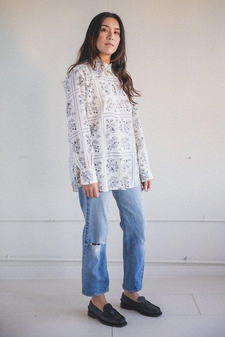 Sara Lanzi Oversized Shirt - Wild Berry Print