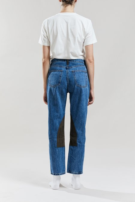 Still Here New York Cowboy Tate Crop Jeans - Classic Blue