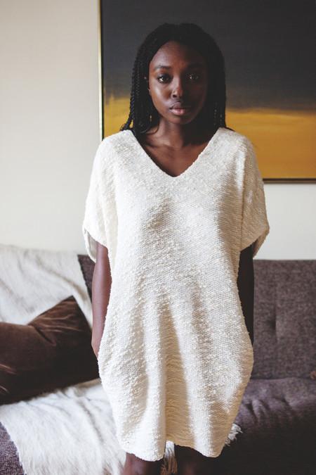 Valérie Dumaine Pembroke Dress (Ivory)