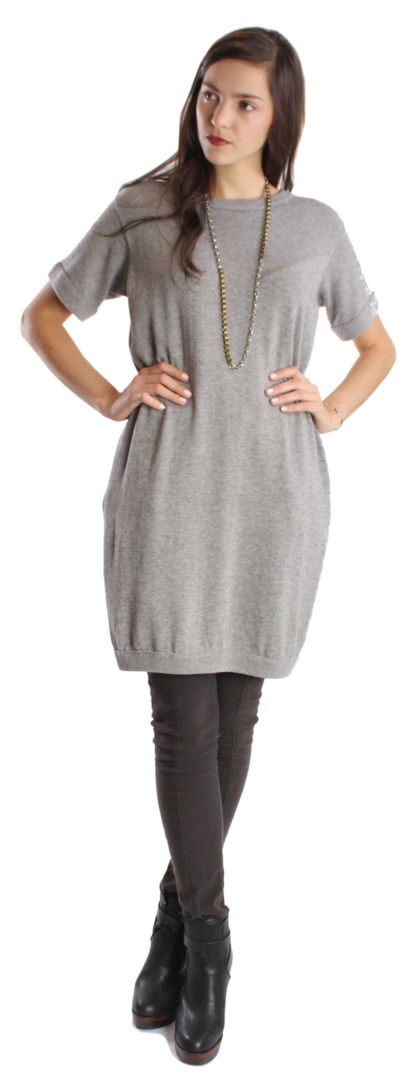 Shae Cashmere/Cotton T-Shirt Dress