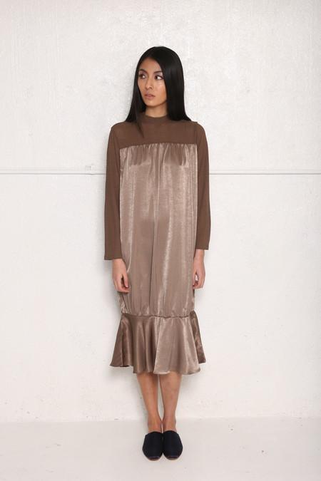 Intentionally Blank BINGHAM Dress Taupe