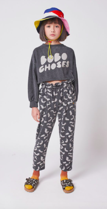 kids Bobo Choses Crop Top Sweatshirt - gray
