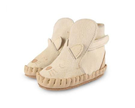 Kids Donsje Kapi Exclusive Lining Cat Boots - Cream Cow Hair