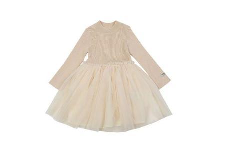 Donsje Lotus Dress - Warm White