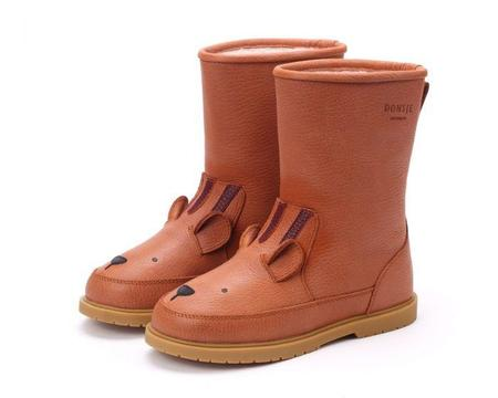 Kids Donsje Wadudu Lining Tiger Boots - Brown