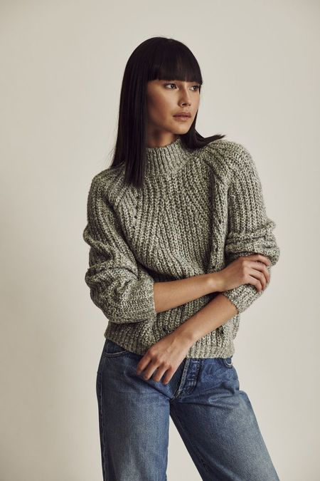 Line Pippa High Neck Sweater - Aurora