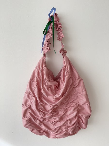 Odeyalo FLEURS gathered tote bag - pink