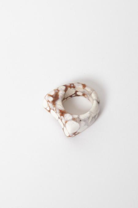 Margaret Hinge Polkadot Jasper Ring - Natural