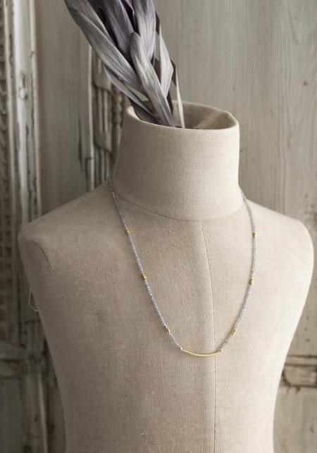 Lulu Designs Gold Vermeil and Labradorite Zephyr Necklace - Gold