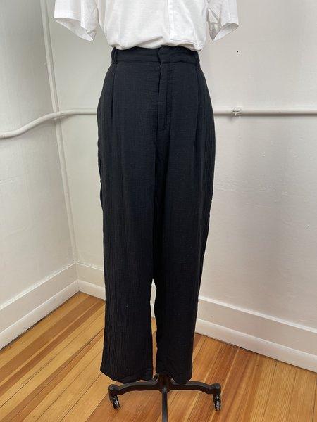 [pre-loved] Sundays Cotton Gauze Trouser - Black