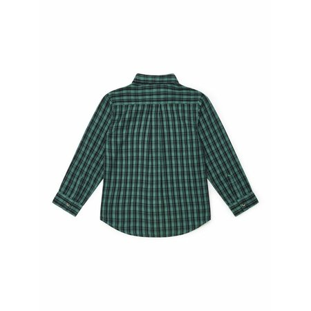 Kids bonton plaid boys shirt - green