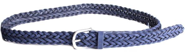 Rag & Bone Classic Braided Belt in Cobalt