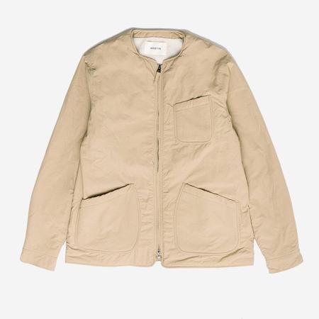 Kestin Skye Collarless Fleece Lined Jacket - Sand