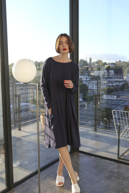 Hansel From Basel Yucca Dress in Navy