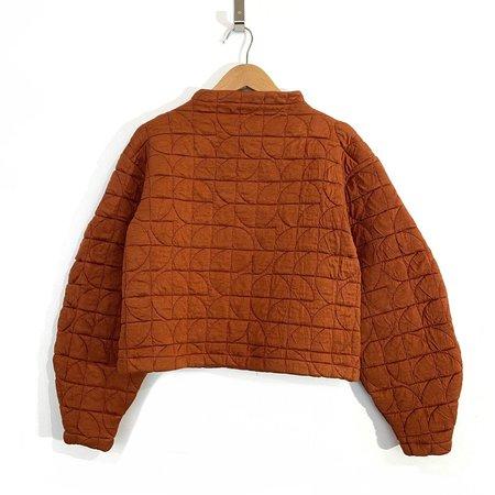 Melow Design Danae Quilted Pullover - Terra Cotta