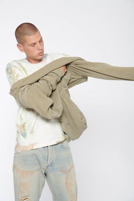 John Elliott Cross Thermal Hoodie sweater - WASHED ARMY
