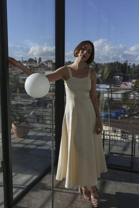 Maryam Nassir Zadeh La Mola Dress in Off-White