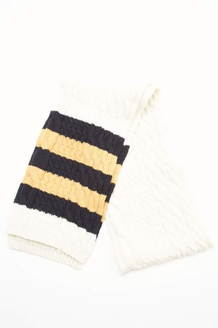 Beams Plus Muffler Cable Line scarf - OFF WHITE