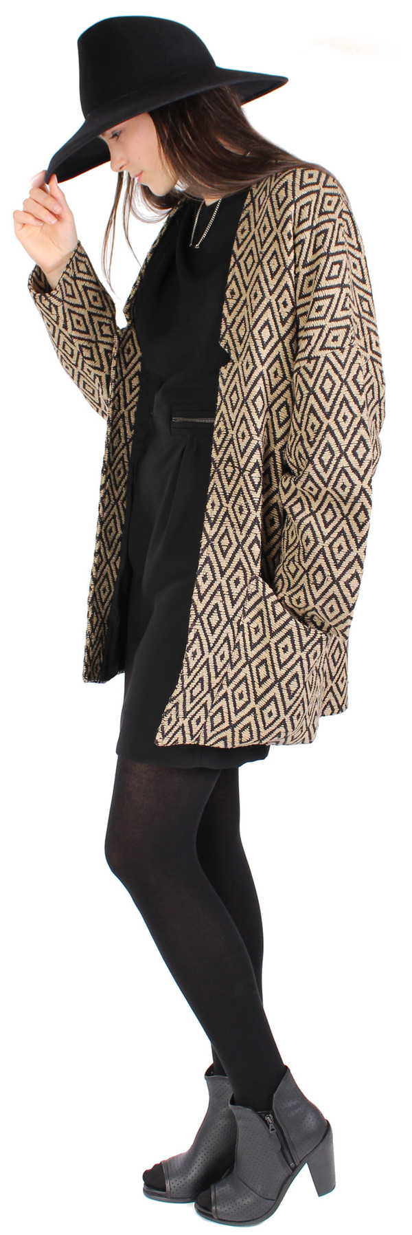 Hoss Intropia Diamond Print Coat