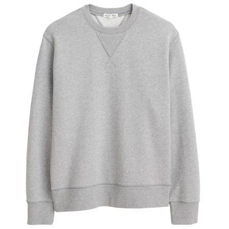 Alex Mill Garment Dyed Crewneck Sweatshirt - Heather Grey